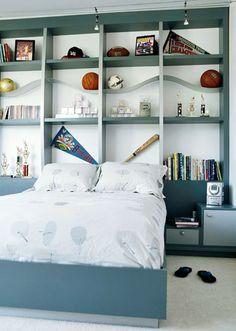 bedroom storage, headboard, kid bedrooms, boy bedrooms, boy rooms