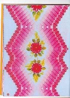 Embroidery inside Swedish weaving design