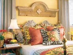 Architectural salvage as headboard