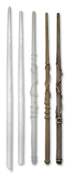these are just paper and hot glue!! yep, make your own wizard wands - so cool! - - Make an awesome Harry Potter wand from a sheet of paper and glue gun glue