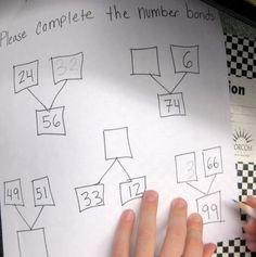 Grade 2 teacher-made number bond practice worksheet