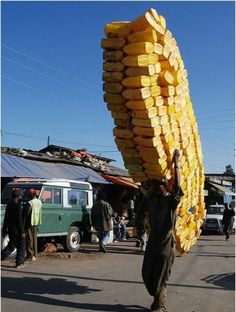 A more common sight than you would think ... very strange but true that African people carry amazing amounts like this ...