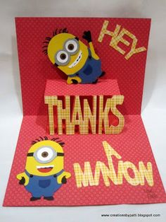 Creations by Patti: Thanks a Minion Card