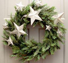 Silver star wreath. So pretty