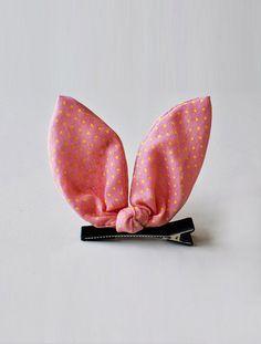 the   bunny ear   hair clip
