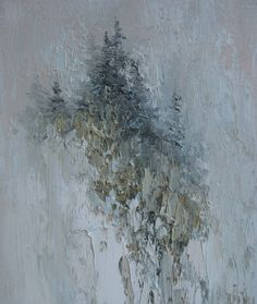 Spirit Mountain   Original Oil Painting. by Griselda Tello.  Contemporary Abstract,  via Etsy.