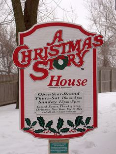 """""""A Christmas Story"""" house in Cleveland, Ohio...take the tour! And one of our fav Christmas movies of all time! You'll shoot your eye out kid:) haha."""