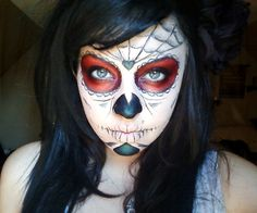 Halloween 2011 sugarskull.  follow me on Instagram caitcatlady for more makeup done by me :)
