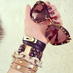 FashionHippieLoves shows off her pretty arm candy including our Pave Link Bracelet