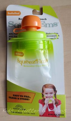 Squeez'Ems Refillable Snack Pouches - Cool!