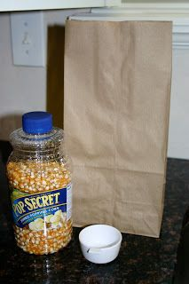 DIY Microwave Popcorn. Great healthy college snack :)