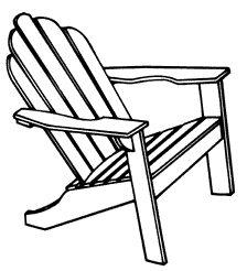 Adirondack Chairs  Lillian Kennedy  Art Lessons  Practice Drawing    Adirondack Beach Chair Clip Art