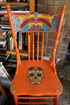 Dia De los Muertos chair