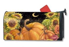 "Harvest Moon Mailwrap by Harvest. $15.95. This MailWraps® magnetic mailbox cover is pre-cut to fit a standard (T1) rural mailbox 6 1/2"" wide x 19"" deep."