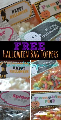 FREE Halloween Bag Topper Printables (Pumpkin Poop, Spider Poop, Happy Halloween and more!)
