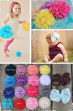 Chiffon Hair Clip - Bow or Flower! 18 Colors to Choose From!