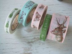 Flora and faunta washi tape - Paris tape