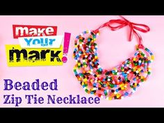 ▶ How To Make a Zip Tie Necklace of Hama Beads DIY - YouTube