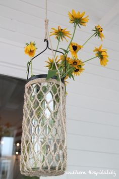 cheerful flowers with fish net