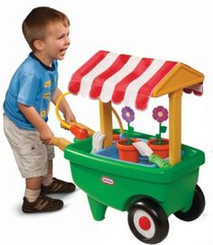 Little Tikes 2-in-1 Garden Cart & Wheelbarrow (& Giveaway Ends 11/11)