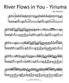 river flows in you violin and piano sheet music pdf