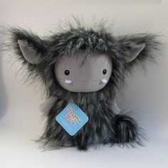 Charcoal Grey Frost Monster by Stuffed Silly via Etsy. SO CUTE!