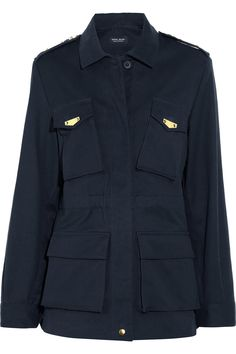Sophie Hulme Gold-plated cotton-drill military jacket NET-A-PORTER.COM