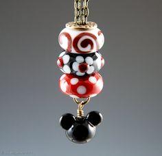 SALE Magical Stackable Necklace - Interchangeable Lampwork European Charm Beads, fits Pandora