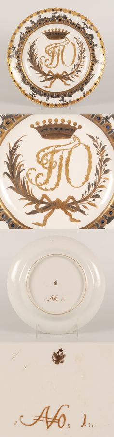 A plate for the Orlov Service.  A gift from Catherine the Great to Gregory Orlov