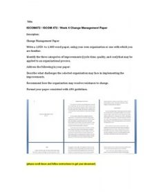 iscom 472 change management paper