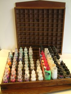 Use Thimble Display Cases as Storage Trays for reinkers, liquid pearls, etc