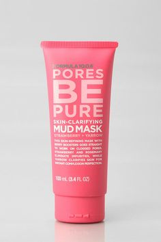 Formula 10.0.6 Pores Be Pure Mud Mask  This packaging is adorable and it made my skin so happy.