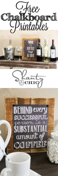 Cute Chalkboard Printable signs!  FREE!