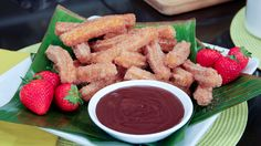 Churros // These were fun to make and tasted delicious! I didn't try the chocolate sauce though.