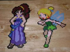 Megara and Tinkerbell hama perler by RoninEclipse2G on deviantart