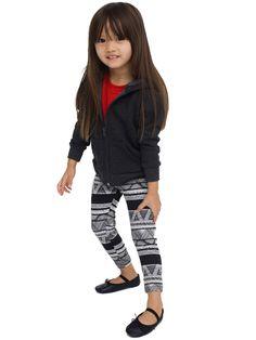 American Apparel - Kids Printed Cotton Spandex Jersey Legging