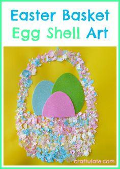 Easter Basket Egg Shell Art - Craftulate