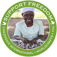 @WorldCrafts Support Freedom Stories  {ChildVoice International ~ Uganda} WorldCrafts and ChildVoice International provide a place of refuge and hope for exploited women and children in war torn countries. #fairtrade #supportfreedom