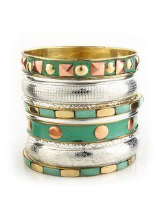 Turquoise and Copper bangle, Pretty!!