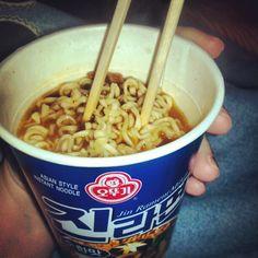 Korean instant cup ramen