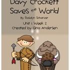 """This packet is a Fifth Grade Treasures Resources for """"Davy Crockett Saves the World"""".  These resources compliment 5th grade Treasures (Unit 1 Week ..."""