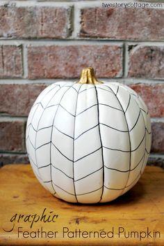 simple fall decor: herringbone pumpkin