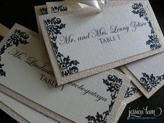 Escort Cards - Jessica Lam Designs