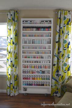 secret-shelf-door for crafts! Love this!