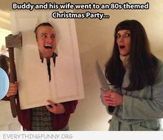 christmas parties, halloween parties, funny pics, funny pictures, costume ideas, couple costumes, funny quotes, funny photos, 80s theme