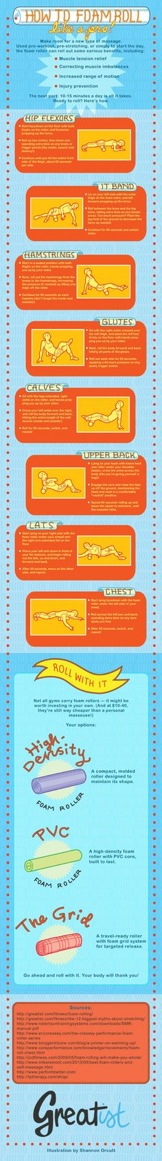 How to use a foam roller. A foam roller can be your best friend after exercising