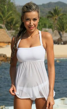Sheer tankini oooooh I like!!