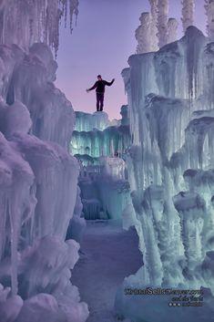 Winter fun at the Ice Castle, Colorado