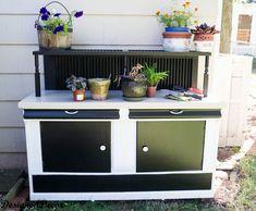Re-purposed Potting Bench