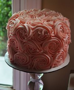 Love this cake! #cake #pink